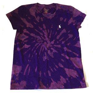 RALPH LAUREN POLO Tie Dye Purple T-Shirt Size S